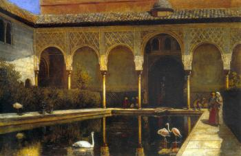 A Court in The Alhambra in the Time of the Moors II