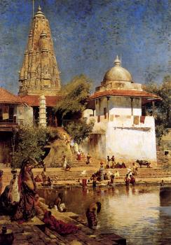 Edwin Lord Weeks : The Temple and Tank of Walkeschwar at Bombay II
