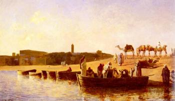 Edwin Lord Weeks : At the River Crossing