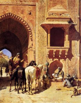 Edwin Lord Weeks : Gate of the Fortress at Agra India