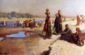 Edwin Lord Weeks : Water Carriers of the Ganges