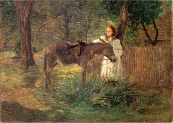 Julian Alden Weir : After the Ride aka Visiting Neighbors