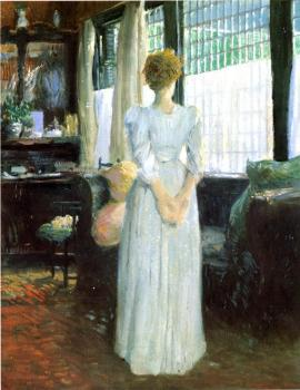 Julian Alden Weir : In the Livingroom