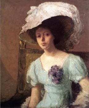 Julian Alden Weir : The Blue Gown
