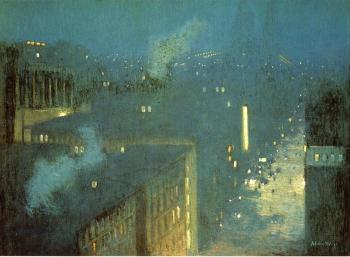 Julian Alden Weir : The Bridge Nocturne aka Nocturne Queensboro Bridge