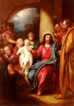 Benjamin West : Christ Showing A Little Child As The Emblem Of Heaven