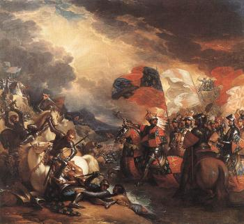 Benjamin West : Edward III Crossing the Somme