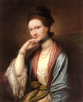 Benjamin West : Portrait of Ann Barbara Hill Medlycott