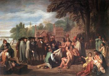 Benjamin West : The Treaty of Penn with the Indians
