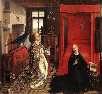 Rogier Van Der Weyden : Annunciation Triptych, central