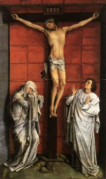 Rogier Van Der Weyden : Christus on the Cross with Mary and St John