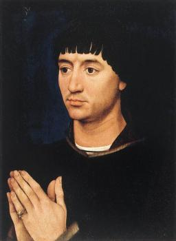 Rogier Van Der Weyden : Portrait Diptych of Jean de Gros, right wing