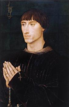 Rogier Van Der Weyden : Portrait Diptych of Philippe de Croy, right wing