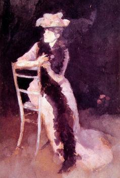 James Abbottb McNeill Whistler : Portrait of Mrs Whibley