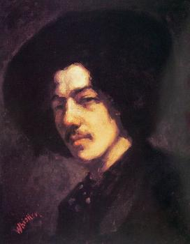 James Abbottb McNeill Whistler : Portrait of Whistler with Hat