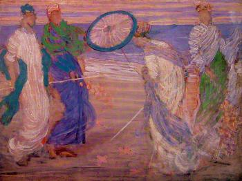 James Abbottb McNeill Whistler : Symphony in Blue and Pink