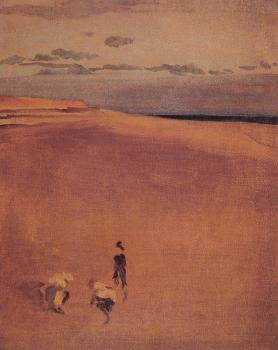 James Abbottb McNeill Whistler : The Beach at Selsey Bill