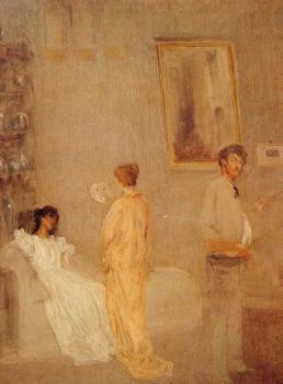 James Abbottb McNeill Whistler : Whistler in his Studio