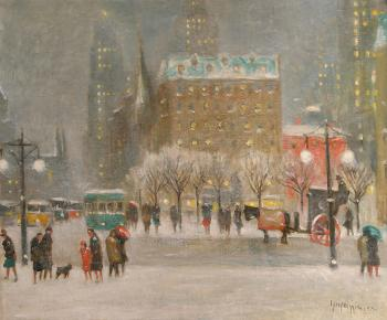 Guy Carleton Wiggins : a winter night in new york