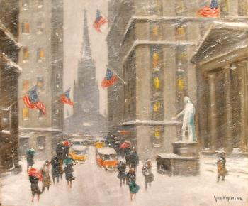 Guy Carleton Wiggins : washingtons birthday on wall street wm