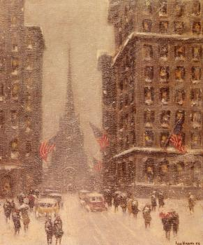Guy Carleton Wiggins : Trinity Church, Wall Street