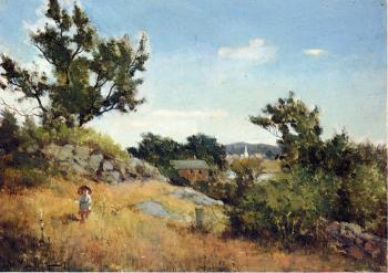 Willard Leroy Metcalf : A View of the Village