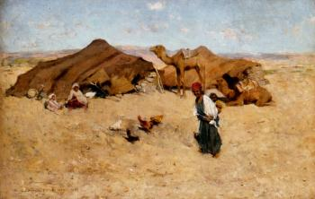 Willard Leroy Metcalf : Arab Encampment Biskra
