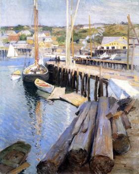 Willard Leroy Metcalf : Fish Wharves Gloucester