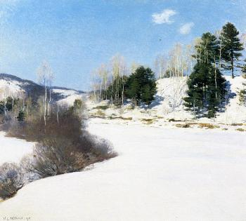 Willard Leroy Metcalf : Hush of Winter