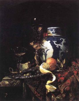 Willem Kalf : Still Life With A Late Ming Ginger Jar