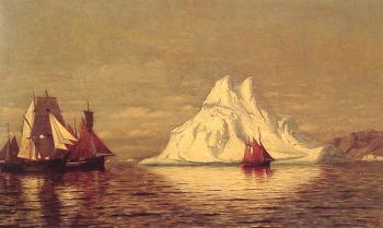 William Bradford : Ships and Iceberg