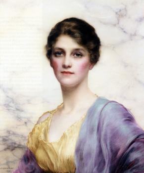 William Clarke Wontner : An Emerald Eyed Beauty
