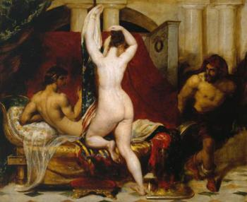 William Etty : Candaules King of Lydia Shews his Wife by Stealth to Gyges One of his Ministers as S