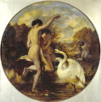 William Etty : Female Bathers Surprised by a Swan