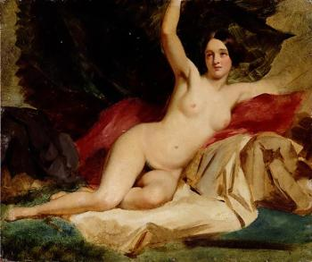 William Etty : Female Nude in a Landscape