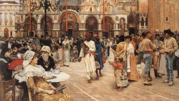 William Logsdail : Piazza of St Mark's Venice