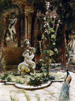 William Logsdail : The Garden Of The Palazzo Malipiero