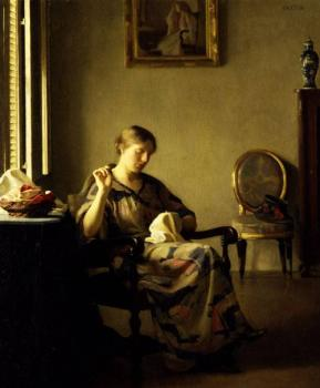 William McGregor Paxton : Woman Sewing