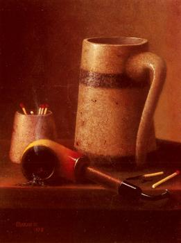Harnett William M Still Life Pipe And Mug
