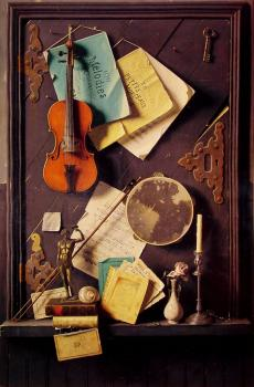 William Michael Harnett : The Old Cupboard Door