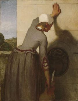 William Morris Hunt : Girl AT The Fountain