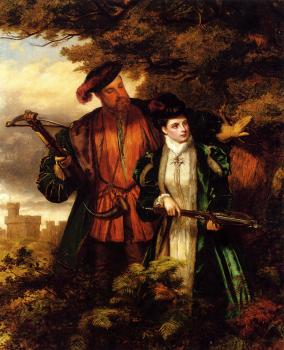 William Powell Frith : Henry VIII And Anne Boleyn Deer Shooting
