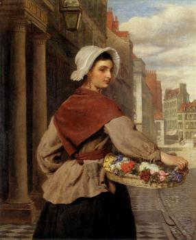 William Powell Frith : The Flower Seller