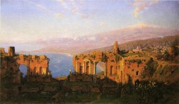 Ruins of the Roman Theatre at Taormina Sicily