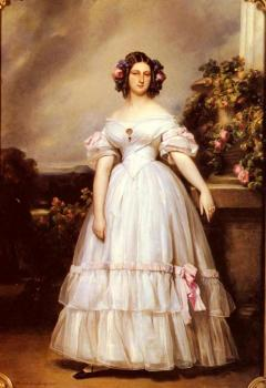 Franz Xavier Winterhalter : A Full-Length Portrait of H.R.H Princess Marie
