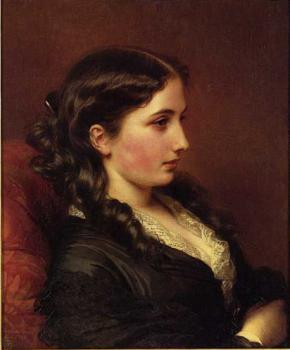 Franz Xavier Winterhalter : Study of a Girl in Profile