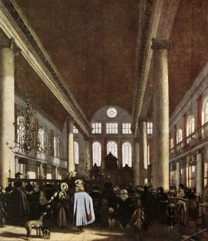 Interior of the Portuguese Synagogue in Amsterdam