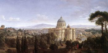 Caspar Andriaans Van Wittel : The St Peter's in Rome