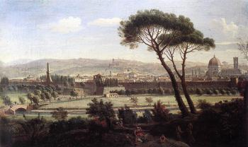 Caspar Andriaans Van Wittel : View of Florence from the Via Bolognese