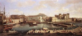 Caspar Andriaans Van Wittel : View of Naples